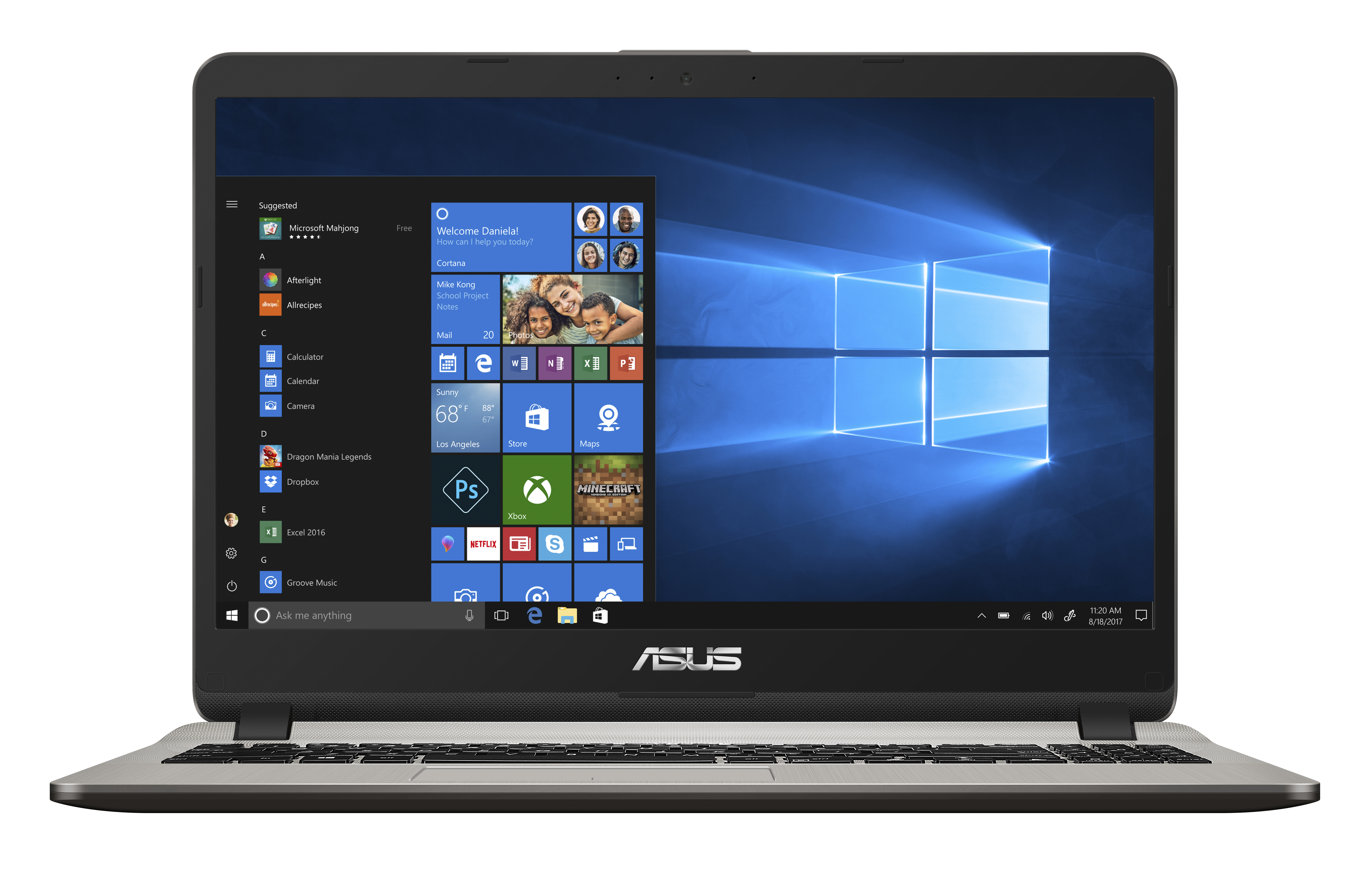 Asus f507ma br009t: notebook comet